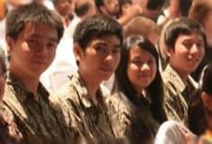 Tim Olimpiade Komputer Indonesia 2011 (ki-ka: Hudi, Reinhard, Jessica, Gozalli)